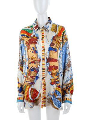 Prière Au Vent Silk Shirt by Hermès - Le Dressing Monaco