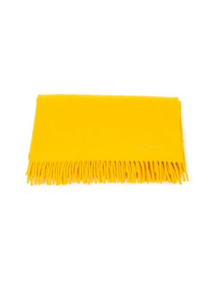 Yellow Cashmere Fringed Scarf by Hermès - Le Dressing Monaco
