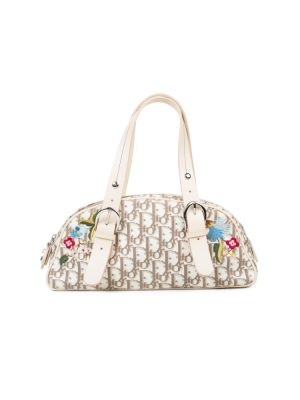 White Diorissimo Flower embroidered Bag by Christian Dior - Le Dressing Monaco