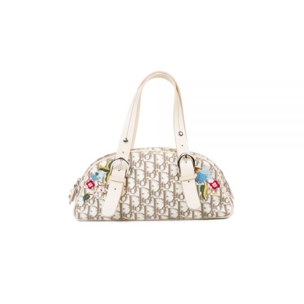Diorissimo Floral Embroidered Satchel by Christian Dior - Le Dressing Monaco