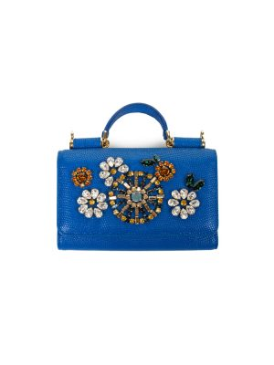 Blue Crystal Embellished Mobile Holder by Dolce e Gabbana - Le Dressing Monaco