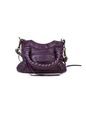 Purple Mini City Leather Bag with Mirror by Balenciaga - Le Dressing Monaco