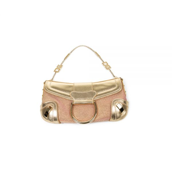 Pink Shiny Gold Trim Purse by Dolce e Gabbana - Le Dressing Monaco