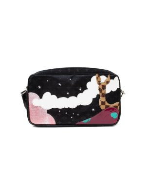 Black Embroidered Animal Shoulder Bag by Louis Vuitton - Le Dressing Monaco