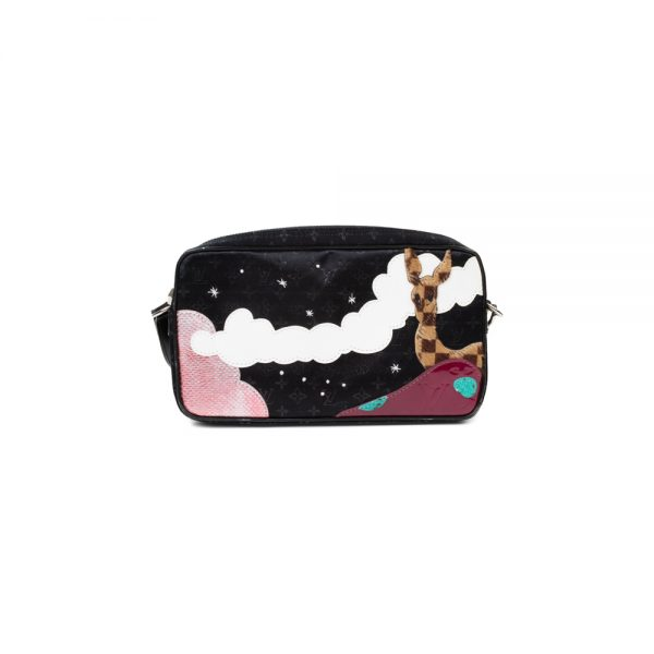 Black Embroidered Animal Shoulder Bag by Louis Vuitton - Le Dressing Monaco