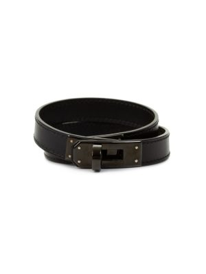 So Black Kelly Double Tour Leather Bracelet by Hermès - Le Dressing Monaco