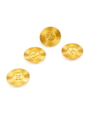 Vintage Gold Metal Buttons by Chanel - Le Dressing Monaco