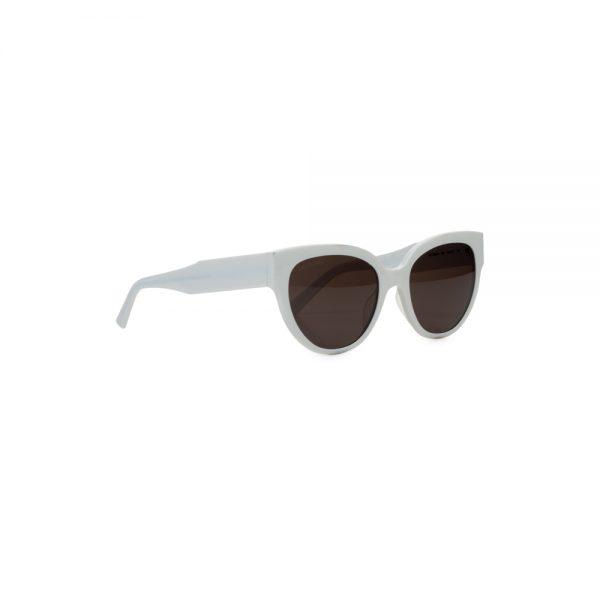 White Plastic Sun Glasses by Balenciaga - Le Dressing Monaco