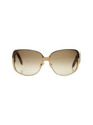 Brown Gold Logo Sun Glasses by Christian Dior - Le Dressing Monaco