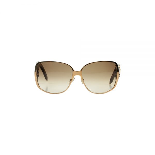 Brown Gold Logo Sun Glasses by Christian Dior - Le Dressing Monaco