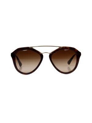 Gold Brown Sun Glasses by Prada - Le Dressing Monaco