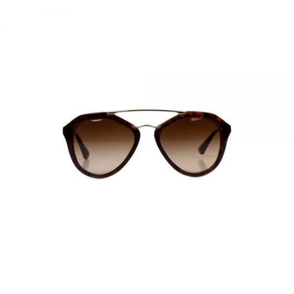 Gold Brown Sun Glasses by Prada - Le Dressing Monaco