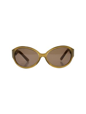Brown Oval Shaped Sun Glasses by Celine - Le Dressing Monaco