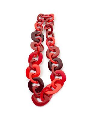 Red Orange Buffalo Horn Necklace