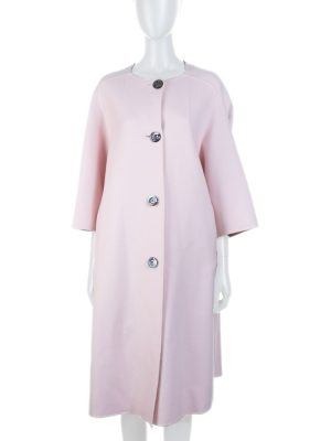 Pink Blush Cashmere Oversize Coat by Christian Dior - Le Dressing Monaco