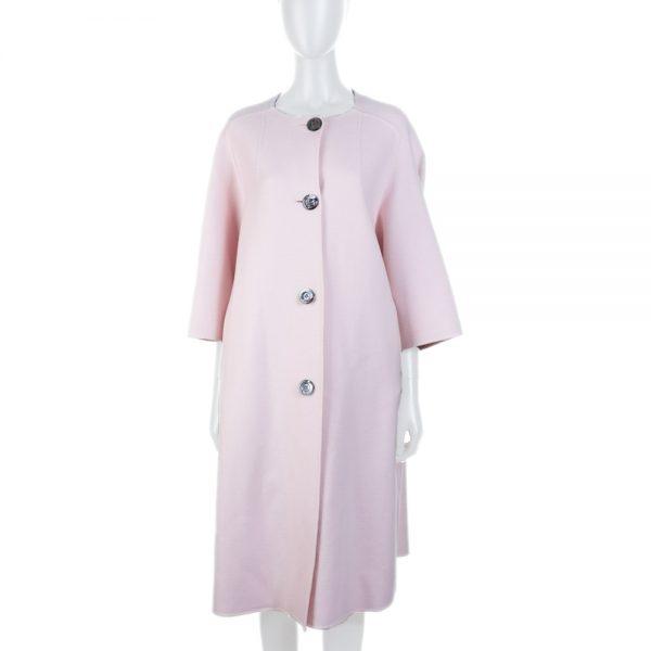 Pink Blush Cashmere Oversize Coat by Christian Dior - Le Dressing Monaco