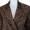Brown Leopard Printed Leather Coat by Zadig et Voltaire - Le Dressing Monaco