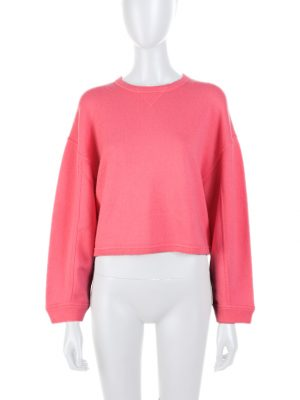 Pink Crop Top Cashmere Jumper by Valentino - Le Dressing Monaco
