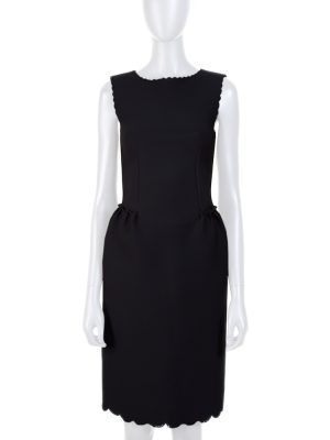 Black Neoprene Laser Cut Dress by Lanvin - Le Dressing Monaco