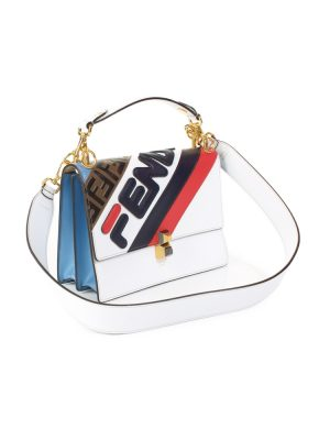 White Blue Red Fila Mania Logo Leather Bag by Fendi - Le Dressing Monaco