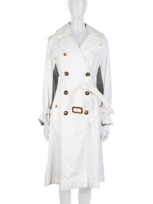 Off White Pied de Poule Trench Coat by Alexander McQueen - Le Dressing Monaco
