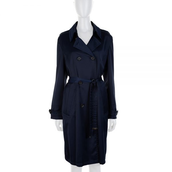 Navy Blue Long Sleeved Trench Coat by Gucci - Le Dressing Monaco
