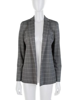 Grey Stripped Alan Blazer Cut Blazer by Akris - Le Dressing Monaco