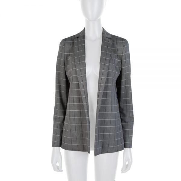 Grey Stripped Alan Blazer Cut Blazer by Akris - Le Dressing Monaco