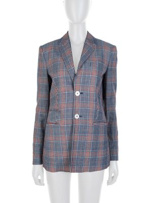Off White Blue Red Stripped Wool Blazer by Dsquared2 - Le Dressing Monaco