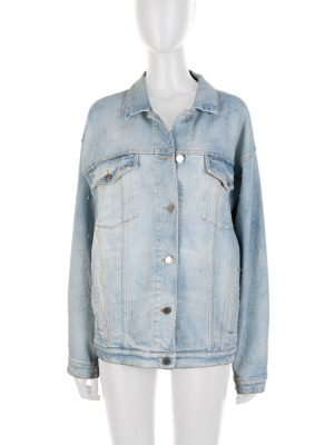Blue Embroidered Star Denim Jacket by Stella McCartney - Le Dressing Monaco