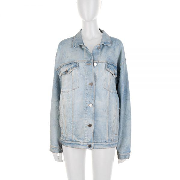 Blue Embroidered Star Denim Jacket by Stella McCartney - Le Dressing Monaco
