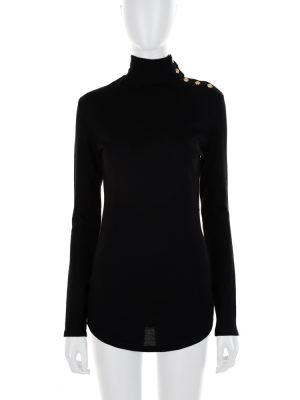 Black Gold Turtle Neck Pullover by Dolce e Gabbana - Le Dressing Monaco