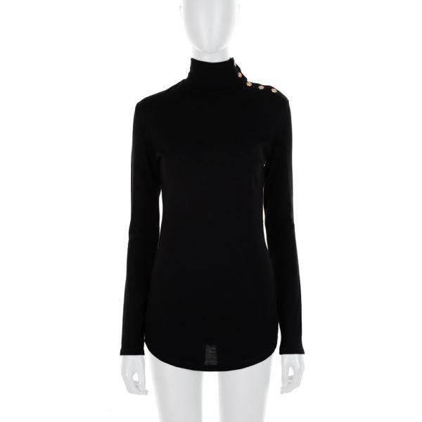 Black Gold Turtle Neck Pullover by Dolce e Gabbana - Le Dressing Monaco