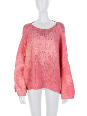 Pink Embroidered Cashmere Pullover by Ermanno Scervino - Le Dressing Monaco