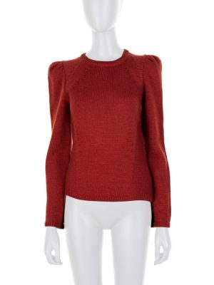 Burgundy Knitted Long Sleeved Pullover by Isabel Marant - Le Dressing Monaco