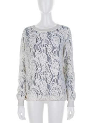 Off white Wool Knitted Pullover by Ermanno Scervino - Le Dressing Monaco