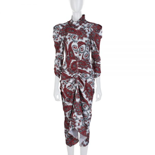 Off White Red Flower Printed Dress by Isabel Marant - Le Dressing Monaco