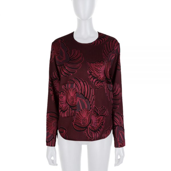 Red Flower Embroidered 2 Pockets Top by Stella McCartney - Le Dressing