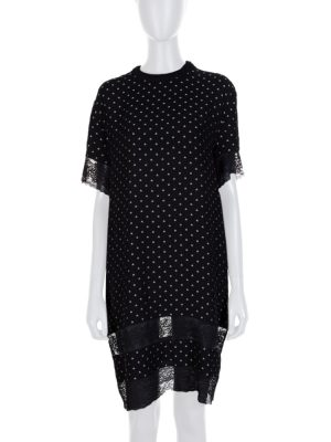 Black White Star Lace Embellished Dress by Givenchy - Le Dressing Monaco
