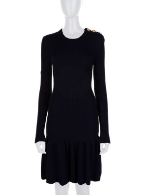 Black Long Sleeved Wool Skating Dress by Red Valentino - Le Dressing Monaco
