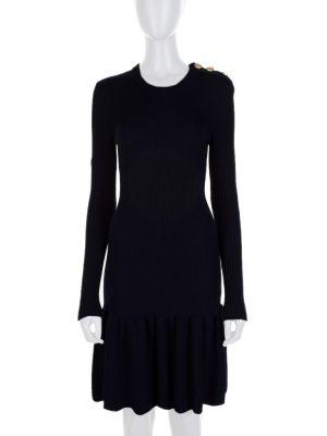 Black Long Sleeved Wool Skating Dress by Red Valentino - Le Dressing Monaco