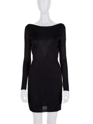 Black Back V Neck Jersey Lurex Dress by Missoni - Le Dressing Monaco