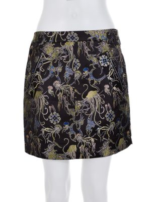 Black Jelly Fish Printed Short Skirt by Louis Vuitton - Le Dressing Monaco