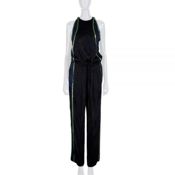 Black Multicolored Border Lurex Combinaison by Gucci - Le Dressing Monaco