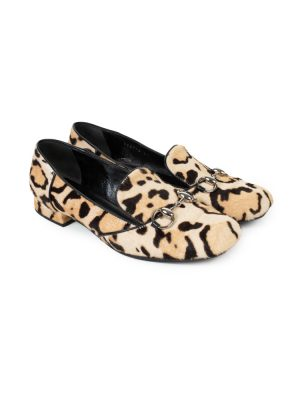 Leopard Horse Bite Pony Hair Loafers by Gucci - Le Dressing Monaco