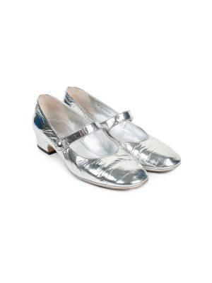 Silver Metallic Leather Ballerinas by Chanel- Le Dressing Monaco