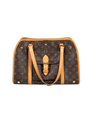Brown Monogram Leather Dog Carrier by Louis Vuitton - Le Dressing Monaco