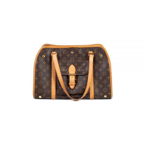 Brown Monogram Leather Dog Carrier by Louis Vuitton - Le Dressing Monaco