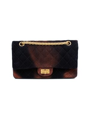 Brown Red Tye Die Velvet 2.55 Velvet Bag by Chanel - Le Dressing Monaco
