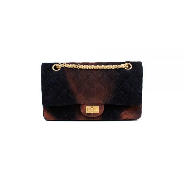 Brown Red Tye Die Velvet 2.55 Velvet Bag by Chanel - Le Dressing Monaco